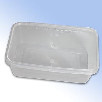 All-Pack Solutions - Fiambreras para alimentos (para microondas, con tapas, capacidad: 500, 650 y1000 cc), plástico, 650cc: Amazon.es: Hogar