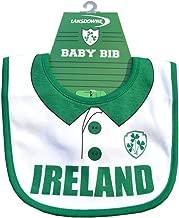 Traditional Craft Ltd. White Ireland Rugby Shirt Bib with Shamrock Crest