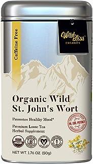 St Johns Wort Tea - Organic Loose Leaf – Caffeine Free – Pharmacopoeia Grade Potency - 1.76 Ounces (25 Servings)
