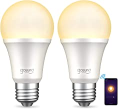 Gosund Smart Light Bulb Works with Alexa Google Home Siri, Dimmable WiFi LED Light Bulbs, E26 A19 Warm White 2700K Bulb, N...