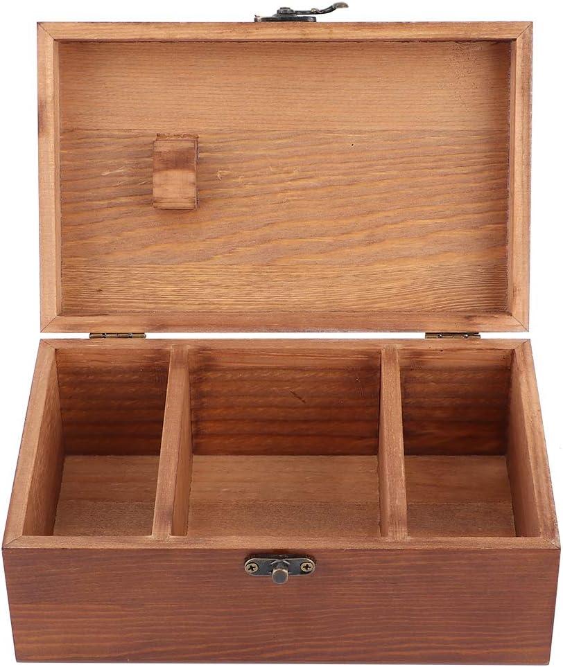 Tower Pattern Empty Box scatola da cucito in legno vintage multifunzione Scatola da cucito per filo dago Strumento per cucito a maglia fai da te Scatola da cucito