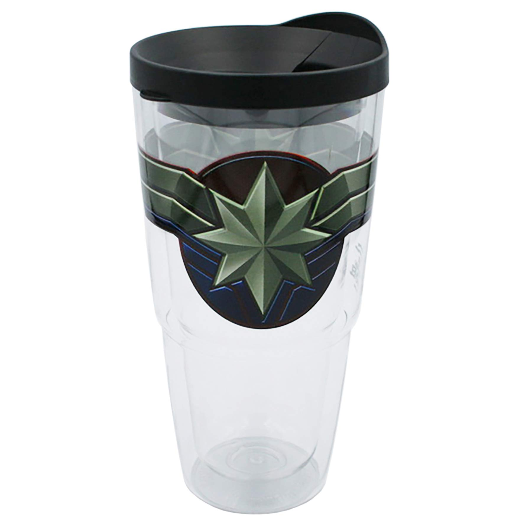 Marvel Travel Tumbler Stainless Steel Portable Beverage Tumbler 16 oz Spill Proof /& Insulated Double Walled Tumbler,/ Captain Marvel Female Hero