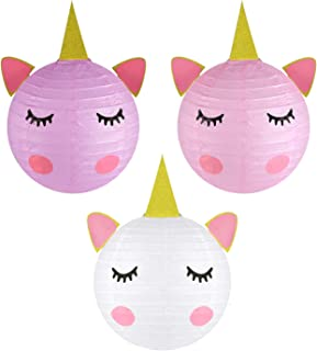 Unicorn Party Decorations - Magical Unicorn Table Centerpieces Paper Lanterns for Unicorn Baby Shower Birthday Party Supplies- Set of 6