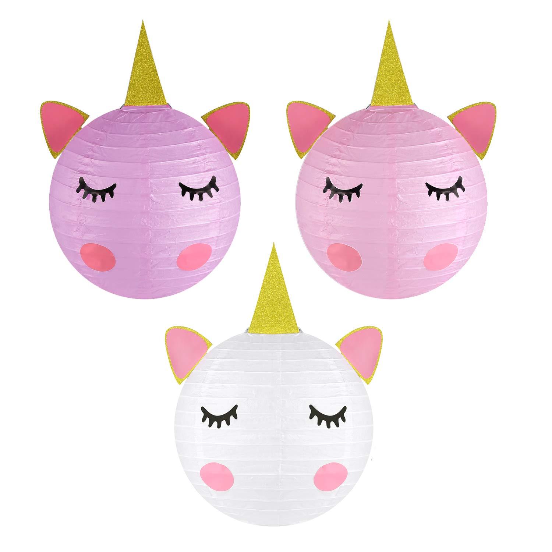 Unicorn Party Decorations – Linternas de papel para mesa de unicornio mágico para fiesta de cumpleaños, juego de 6: Amazon.es: Juguetes y juegos