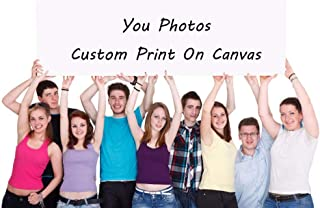 Customized Photo Prints Painting Canvas Your Photo Turn Into On Canvas - Customized as Gallery Artwork Wrap Stretched Framed for Gifts - 8