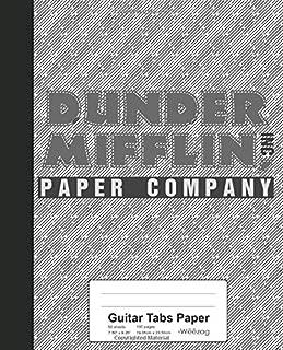 Guitar Tabs Paper: Dunder Mifflin Paper Company Book (Weezag Guitar Tabs Paper Notebook)