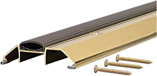 M-D Building Products 9365 M-D 0 Deluxe High Premium Threshold with Replaceable Vinyl Insert,  36 in L X 3-3/4 in W,  x 3-3/4 W x 1-1/8 H,  Brite Gold