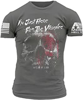 America Hell Yeah - Here for The Violence Men's T-Shirt