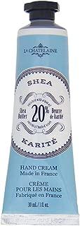 La Chatelaine 20% Shea Butter Hand Cream, Popular Shea Scent, Organic Argan Oil, Travel Size 1 oz, Immediate Hydration, Intense Repair, Extra Rich Hand Lotion, Non-Greasy Formula, Paraben Free