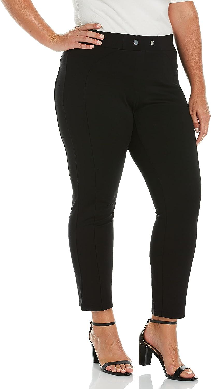 Rafaella Women's Pull-on Ponte Pant with Seam Detail-Comfort Fit