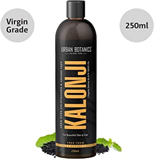 UrbanBotanics Cold Pressed Kalonji Oil - Virgin Grade - Black Seed Oil - Nigella Sativa - 250ml