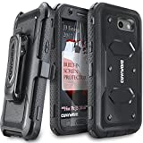 COVRWARE Galaxy J3 2017/J3 Prime/J3 Emerge/J3 Eclipse/Express Prime 2/Luna Pro/Amp Prime 2/Sol 2 Case, [Aegis] Built-in [Screen Protector] Heavy Duty Rugged Holster [Belt Clip][Kickstand] Black