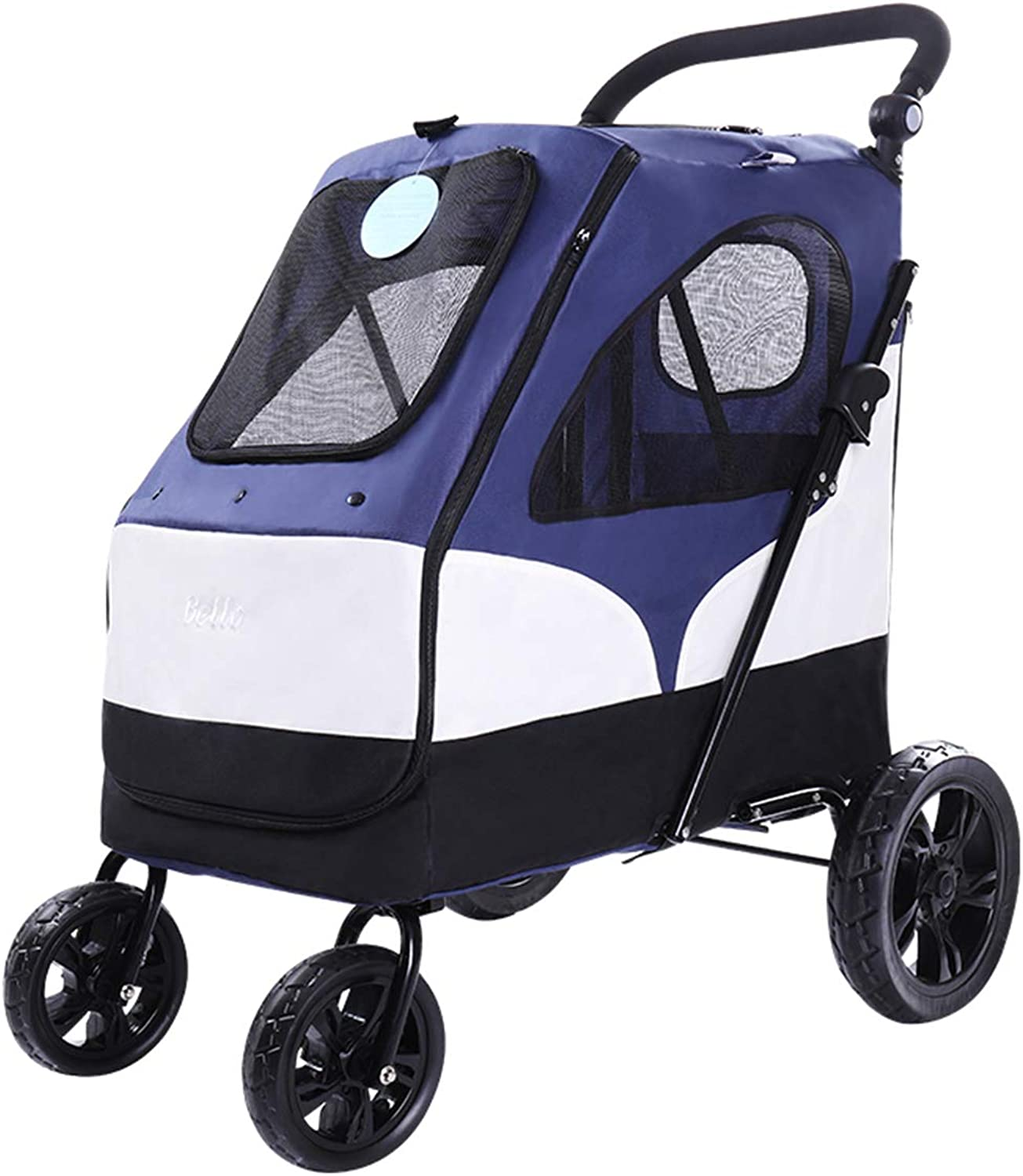 Big Pet Cart,Luxury Big Dog Cart Folding Large Space Carrying 55 Kg Out