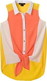 335a8803a79 My Michelle Big Girls  Sleeveless Colorblock Top New West