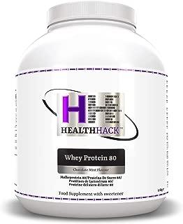 Health Hack - Proteína de suero de leche 80 %, 2,5 kg, chocolate y menta