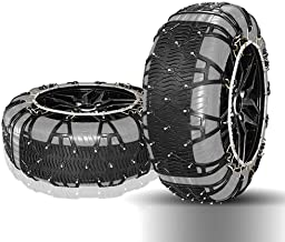 Car Wheel tire Snow Chain Snow Chain - Car Snow Chain Tires Snow Chain Car Off-Road Vehicle SUV Tire Snow Chains Easy to Install Car Anti-Skid Emergency Snow Tyre Chains (Size : 215=R15)