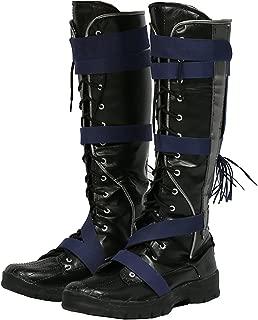 Hot Movie Doctor Cosplay Strange Shoes Black PU Knee Boots Halloween