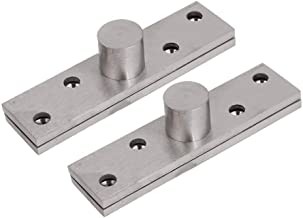 Ranbo Hidden Door Center Hung Pivot Set,360 Degree Concealed Rotating Door Pivot Hinge, Stainless Steel Brushed Finish Hardware 2 pcs (95 x 19 mm)