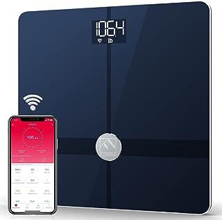 Fitindex - Báscula de baño digital con control de masa corporal con Bluetooth WiFi, báscula de baño con aplicación para sm...
