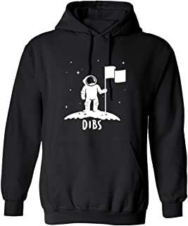 Dibs Flag On The Moon Astronaut Space Stars Funny Graphic Design Hoodie
