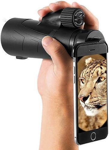 Py YP Monoculaire Haute Définition Remplis D'Azote Imperméable à l'eau à Faible éclairage de Nuit Lunettes de Téléphone Portable,Une