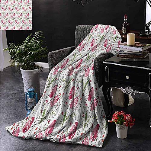ZSUO bont gooien deken Grote Grijs Bloem Bloemblaadjes op Roze Achtergrond Vallen Bladeren Natuurlijke Thema Artwork Zachte en comfortabele slaapbank