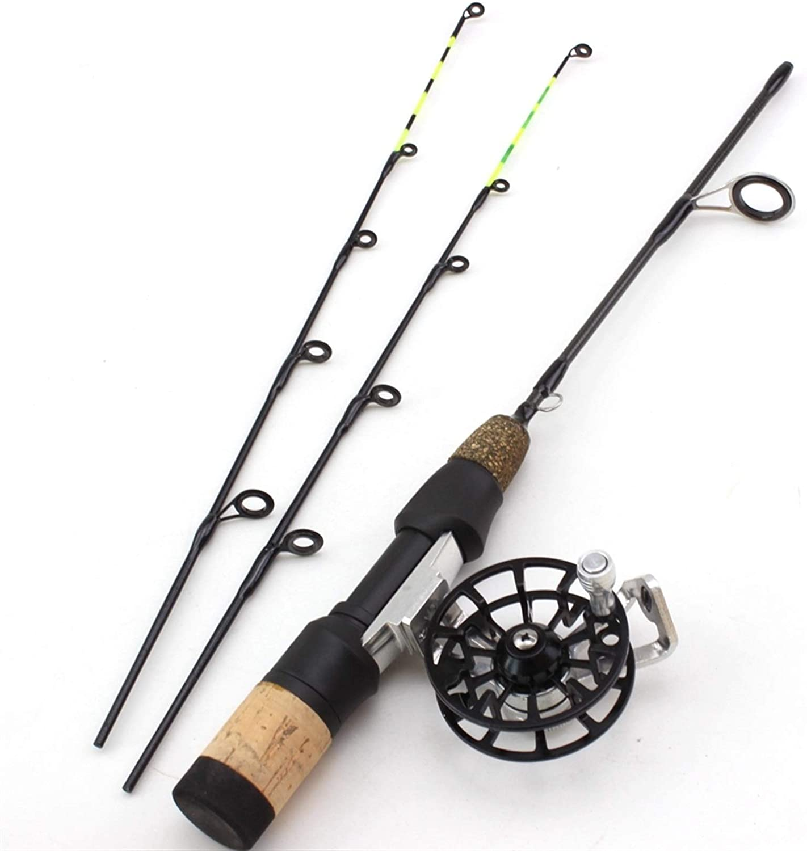 ZYHYD 58CM Ice Fishing Rod Set San Diego Mall Ultra-Short Reel Credence 2Tips W