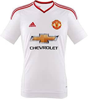 adidas 2015-2016 Man Utd Away Football Soccer T-Shirt Jersey (Kids)