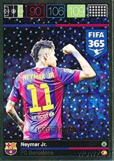 2016 Panini Adrenalyn XL FIFA 365 EXCLUSIVE Neymar Jr. Limited Edition Card! Rare Awesome Special Great Looking Card Imported from Europe!Shipped in Ultra Pro Top Loader to Protect it !