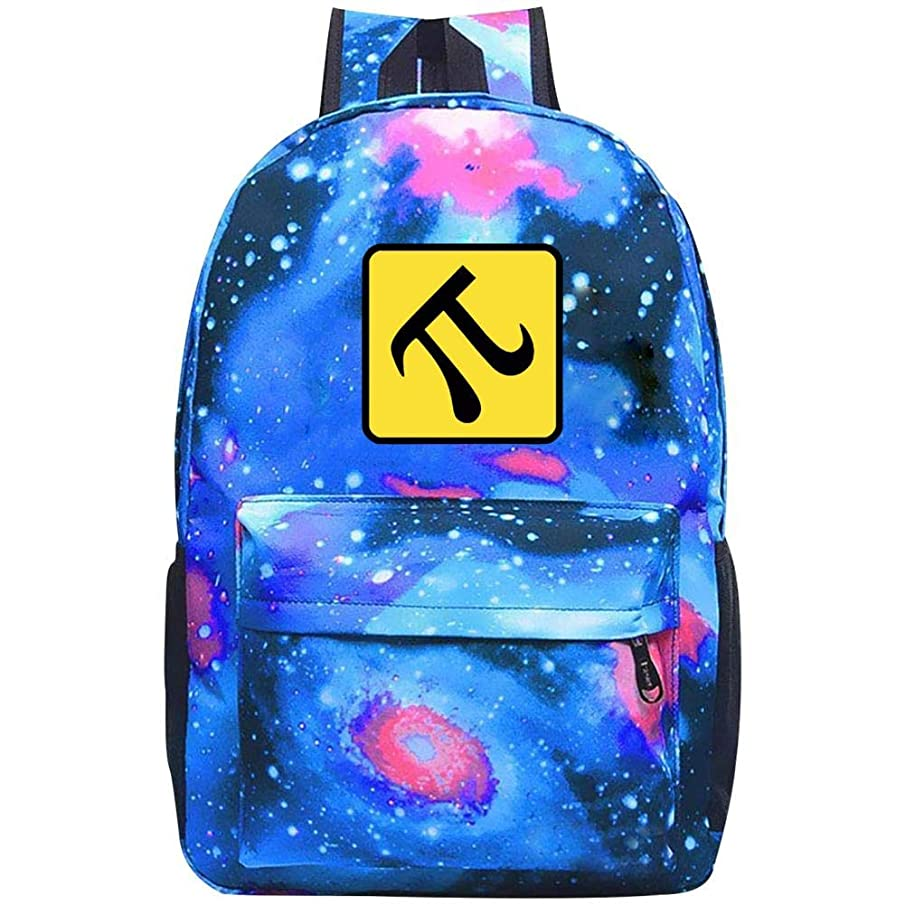 XKSJSB Pi Logo Galaxy Laptop Backpack, Star Water Resistant College Students Travel Computer Notebooks Backpack for Men Women Blue