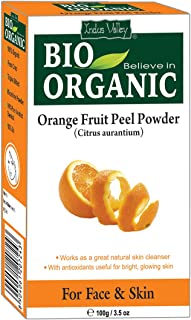 Indus Valley Orange Peel Fruit Powder Face Pack For Skin Glowing & Remove Skin Impurities - 100 gm.