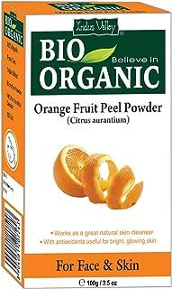 Indus Valley Natural Organic Orange Peel Herbs Powder For Glowing Face & Removing Pimples & Wrinkles (Orange Peel)
