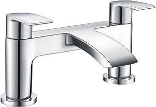 [Bath Tap] Hapilife Bathroom Waterfall Monobloc Bath Filler Mixer Tap Chrome Double Lever Tub Tap
