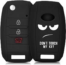 kwmobile Funda Compatible con Llave de 3-4 Botones para Coche Kia - Carcasa Protectora Suave de Silicona - Don't Touch my Key