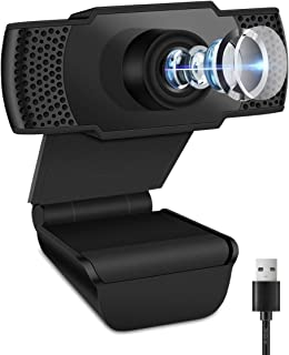 CharmUO 1080P Webcam with Microphone, USB Desktop & Laptop Live Streaming Widescreen, Built-in Mic Mini HD Video Webcam fo...