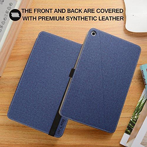 Infiland Huawei MediaPad M3 Lite 10 Tastatur Hülle, Ultradünn leicht Ständer Schutzhülle mit magnetisch abnehmbar Tastatur für Huawei MediaPad M3 Lite 10(QWERTZ Tastatur,Dunkleblau) - 5