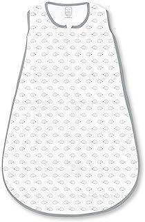 SwaddleDesigns Cotton Sleeping Sack with 2-Way Zipper, Tiny Hedgehog, Black, Medium 6-12 Months