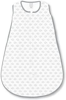 SwaddleDesigns Cotton Sleeping Sack with 2-Way Zipper, Tiny Hedgehog, Black, Medium