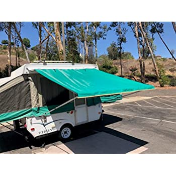 Amazon Com Ez Lite Campers Pop Up Tent Trailer Awning Camping Trailer Rv Awning 9ft Green Automotive