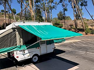 EZ Lite Campers Pop Up Tent Trailer Awning, Camping Trailer RV Awning 7ft Green