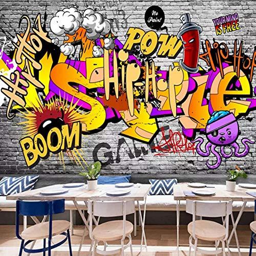 Muurschildering 3D Hip Hop Muziek Fotobehang Non-Woven Moderne Premium Art Print Poster Beeld Ontwerp Muurstickers voor Woonkamer Slaapkamer Keuken Decoratie 350 cm.