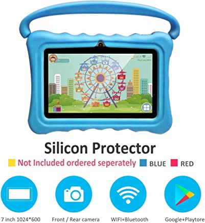 $39 Get Kids Tablets pc 7 Inch Android Quad Core Tablet for Kids Learning Tablet with WiFi Dual Camera IPS Safety Eye Protection Screen 1GB 8GB Storage