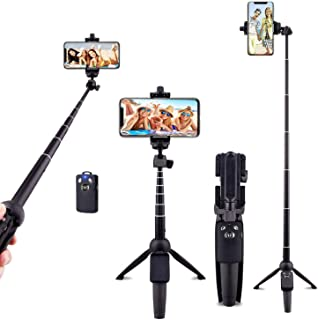 Ottertooth Selfie Stick Tripod, 102 cm Portable Extendable All in One Selfie Stick with Wireless Remote, Compatible with i...
