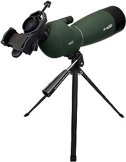 SVBONY SV28 フィールドスコープ 野鳥 観察 バードウォッチング 単眼望遠鏡 天体観測 防水 スポッティングスコープ 三脚付き (25倍--75倍-70 mm)