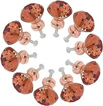 Ros/égold K9 T/ürknauf f/ür Schrank f/ür K/üche Schrank Schublade Diamantform 30 mm Badezimmer 10 Pcs Glasgriff Kleiderschrank Schublade 20 St/ück