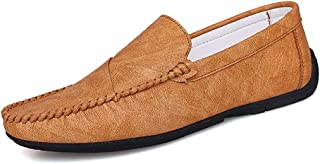 YENLI Men's Santa Cruz 2 Luxe Loafer   Casual Comfort Slip On with Memory Foam Footbed   Lightweight Dress or Walking Shoe (Color : Brown, Size : 9.5 M US)