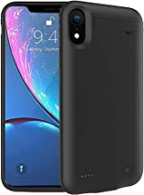iPhone XR Battery Case,FNSON 4200mAh Portable Charger Case Ultra-Thin Rechargeable Extended Battery Pack Protective Backup Charging Case Cover for iPhone XR (6.1 inch) Power Bank - Black