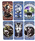 W808M Anne Stokes Legends Tarot:78pcs Legends Tarot Cards Deck Mysterious Animal Magic Divination Fate Board Cards Games