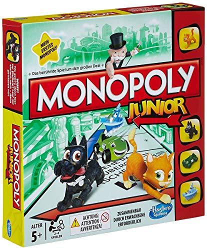 Hasbro Monopoly - Junior, der Klassiker der Brettspiele für Kinder, Familienspiel, ab 8 Jahren