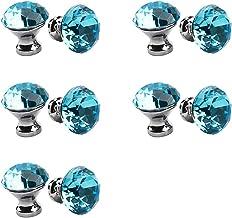 Kristallen deurknoppen,30mm kristal handvat multi-color kristallen knop 10 STKS, meubels ladeknop kleding kastdeur enkel g...
